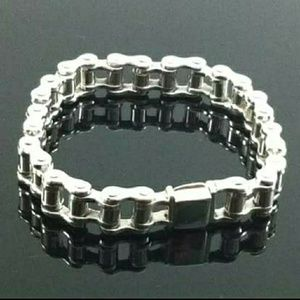 Other - Silver 925 Motorcycle Chain Bracelet